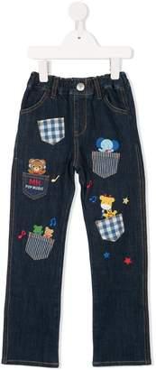 Mikihouse Miki House pocket embellished jeans
