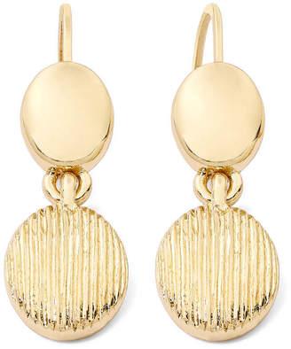 JCPenney MONET JEWELRY Monet Gold-Tone Textured Drop Earrings