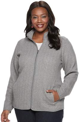 Croft & Barrow Plus Size Quilted Knit Jacket