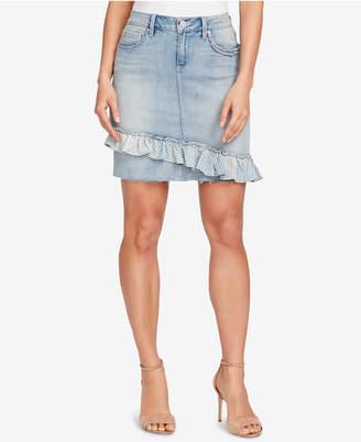 Vintage America Rena Ruffled Denim Skirt