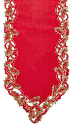 "Elrene Holly Twist Velvet 13"" x 70"" Table Runner"