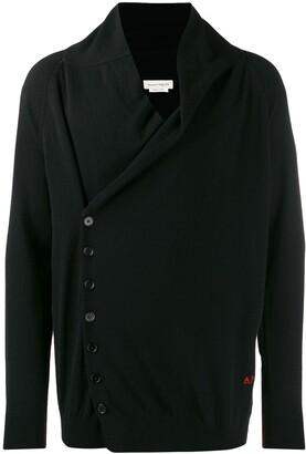 Alexander McQueen cashmere off-centre buttoned cardigan