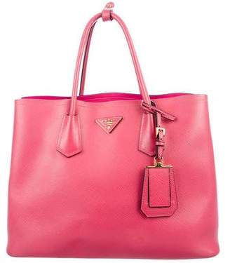 Prada Saffiano Cuir Medium Double Tote
