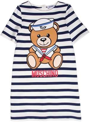 Moschino Sailor Bear Striped Milano Jersey Dress