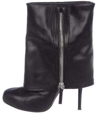 Giuseppe Zanotti Leather Round-Toe Ankle Boots