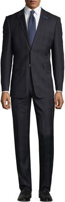 English Laundry Men's Check Two-Piece Suit, Black