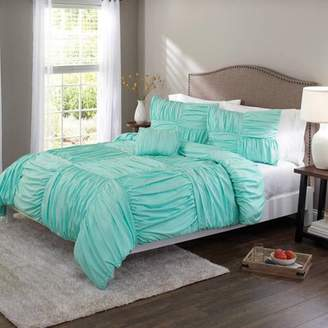 Better Homes & Gardens Better Homes and Gardens Basketweave Ruched Bedding Comforter Cover Set