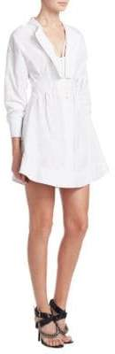 Alexander Wang Deconstructed Poplin Shirt Dress