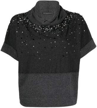Fabiana Filippi sequin-embellished knitted top