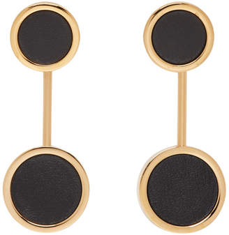 Jil Sander Black Circle Earrings