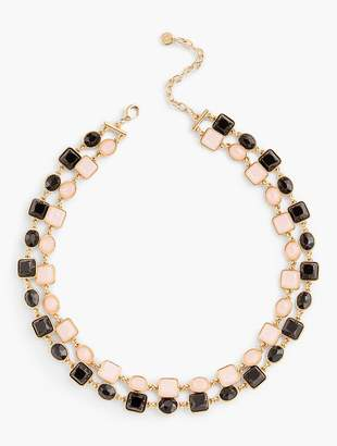 Talbots Two-Layer Stone Necklace