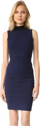 Milly Beaded Collar Sheath Dress $435 thestylecure.com