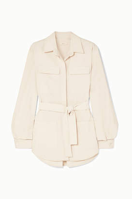 MATIN - Belted Cotton-canvas Jacket - White