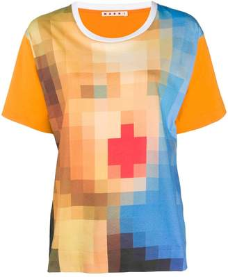 Marni digital print oversized t-shirt