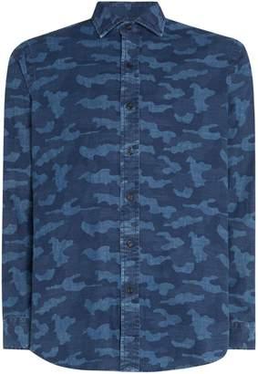 Polo Ralph Lauren Men's Linen Camoflauge Shirt