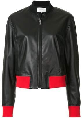 CK Calvin Klein contrast trim bomber jacket