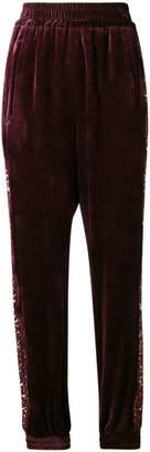 Stella McCartney velvet lace tapered trousers