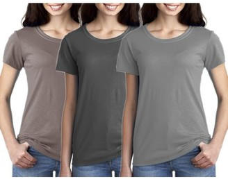 Clementine Apparel Women's Clementine Ideal Crew-Neck T-Shirts (Pack of 3)