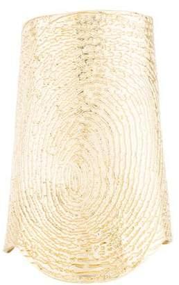 Saint Laurent Wide Fingerprint Cuff