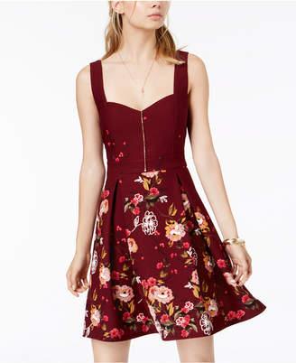 Trixxi Juniors' Sweetheart Floral-Print Dress
