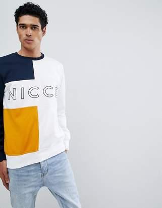 Nicce London domain sweatshirt with paneled logo