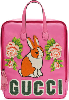 Children's canvas backpack with rabbit $1,100 thestylecure.com