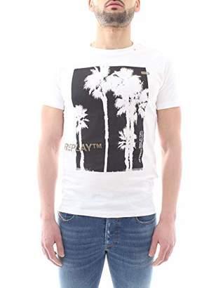 Replay Men's M3734 .000.2660 T-Shirt, (White 1)