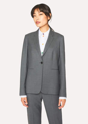 Paul Smith A Suit To Travel In - Women's Grey Marl One-Button Wool Blazer