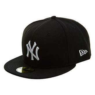 brand new 129a0 cc365 at Amazon Canada · New Era 59Fifty Hat MLB Basic New York Yankees  White  Fitted Baseball Cap (7