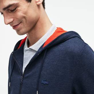 Lacoste Men's Motion Hooded Fleece Zip Sweatshirt