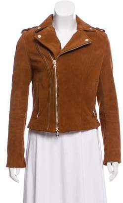 Intermix Leather Moto Jacket