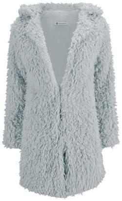 Woya Women's Fur Coat Long-sleeved Coat Cardigan Warm Autumn And Winter Jacket