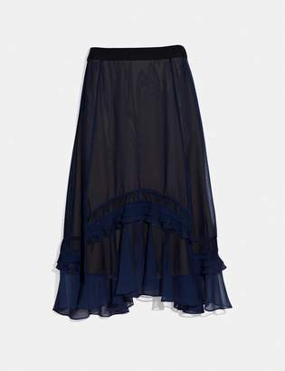 Coach Long Tiered Skirt