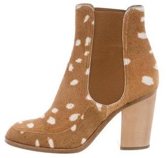 Laurence Dacade Ponyhair Ankle Boots $180 thestylecure.com