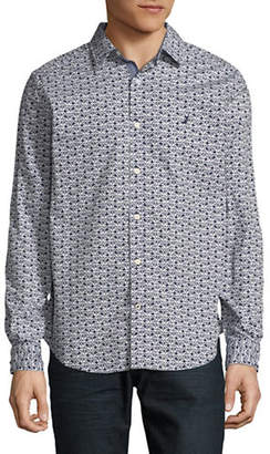 Nautica Printed Cotton Sport Shirt