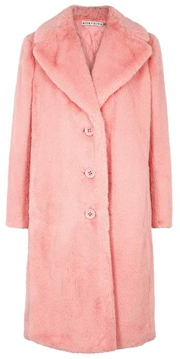 Foster Pink Faux Fur Coat