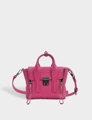 3.1 Phillip Lim Mini Pashli Satchel Bag in Bright Fuchsia Shark Embossed Cow