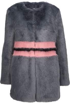 Shrimps Agnes Color-Block Faux Fur Coat