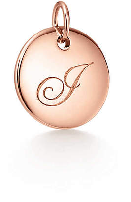 Tiffany & Co. & Co. Charms alphabet charm in 18k rose gold, small Letters A-Z available - Size J