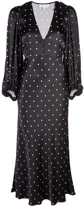 Shona Joy polka dot empire dress