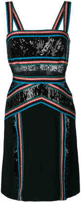 Elie Saab sequinned ribbon trim dress