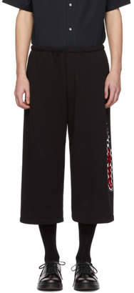 McQ Black Racing Three-Quarter Lounge Pants