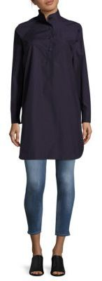 AkrisSolid Cotton Button-Down Tunic