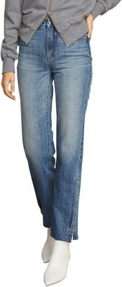 Habitual Lucia High Rise Side Slit Raw Hem Nonstretch Jeans