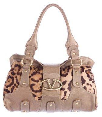 ValentinoValentino Leopard Ponyhair Handle Bag