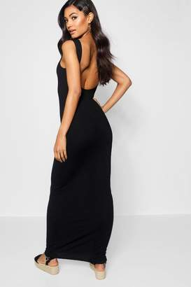 boohoo Low Scoop Back Jersey Maxi Dress