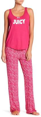 Juicy Couture Scoop Neck Tank Top & Printed Pants Pajama Set