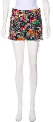 Isabel Marant Printed Mini Shorts
