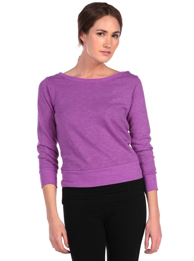 So Low Back Twist Pullover