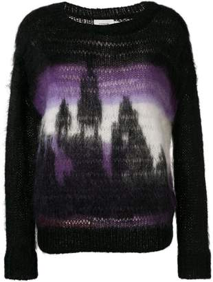 Coach jacquard knit jumper